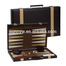 hot sale hand made leather backgammon set
