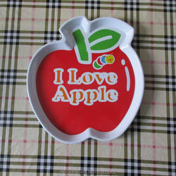 melamine apple shape plate plastic apple shape plate