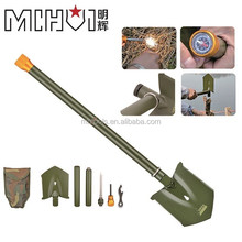 Military multifunction Folding Shovel with Carrying Pouch Great for Camping Hiking and Backpacking