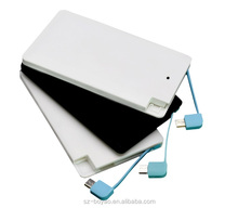 2016 best selling Small Capacity Super Thin Credit Card power bank , 2600 mah Power Bank