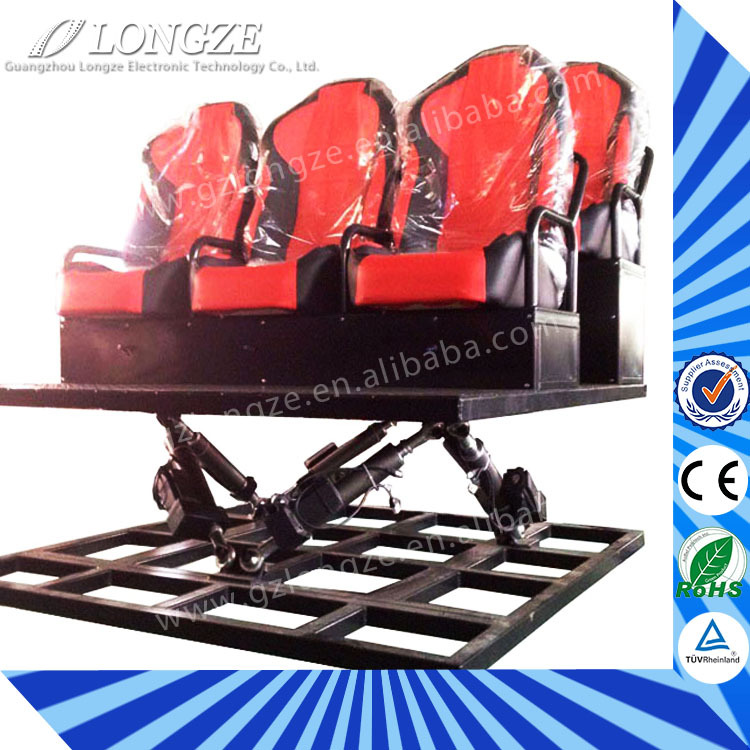 high quality 6dof Mobile Cabin Exciting Small investment and high yield horror movies 7d motion cinema seat