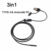 5.5MM 6 LED USB Endoscope Type-c Android PC 3 in1 2M Soft Cable Inspection Borescope Endoscope Camera
