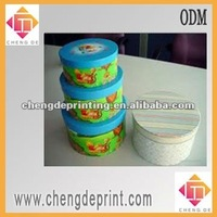 2015 hot sell custom red paper packaging cylindrical box made in China