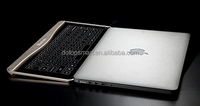 Transparent qwerty laptop keyboard,innovative technology combined with exquisite design alluminium alloy frame noble gold color