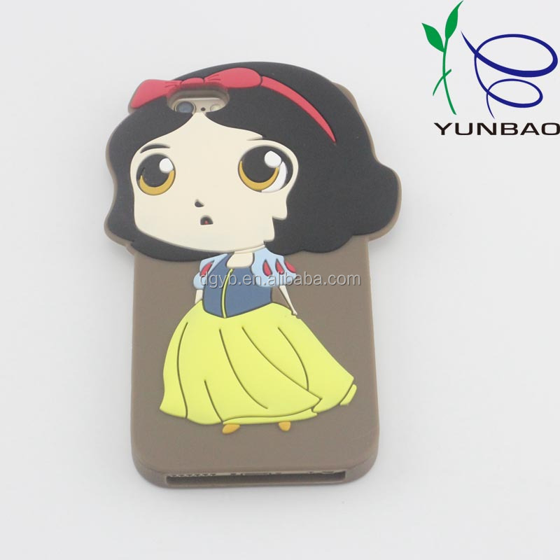 beautiful princess designed silicone phone case cover for blackberry phone accessory