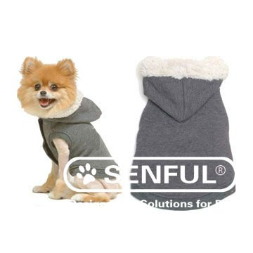 Dog Coat with Fleece Collar