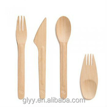 Disposable and Eco Friendly Mini Bamboo Fork Knife Spoon