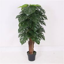 Factory supply super quality bright green foliage artificial taro tree