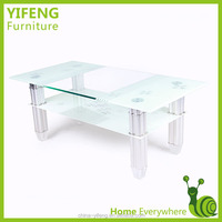 10mm tempered glass teak root coffee table in home furniture