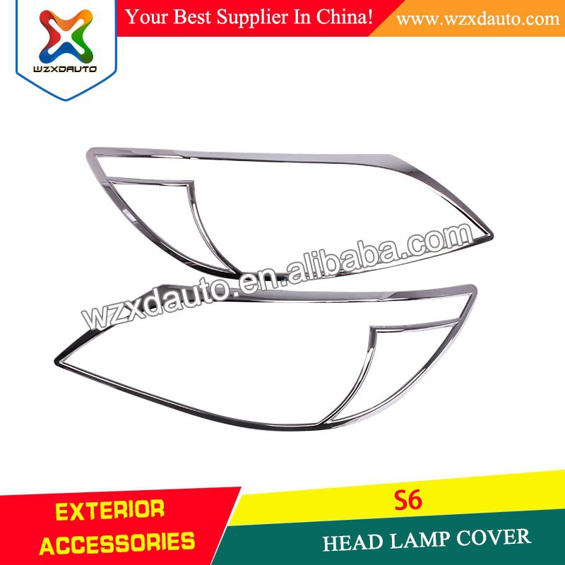 S6 CHROME HEAD LAMP COVER CAR ACCESSORIES