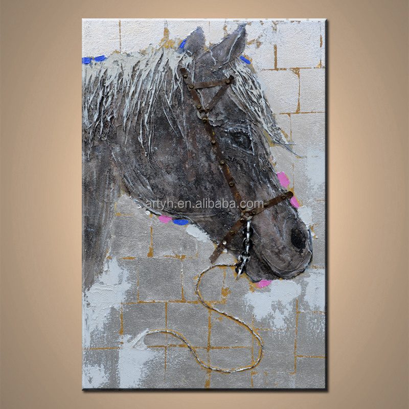 Modern horse head abstract paintings for home decor