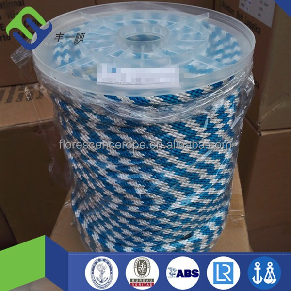 low price 12mm solid braided polyester rope for boat yacht