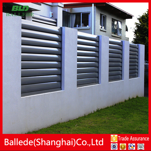 high quality aluminum yard guard louver fence