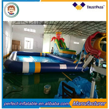 2017 outdoor water floating inflatable swimming pool for water park event garden