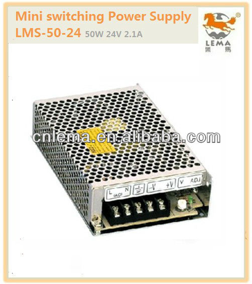 LMS-50-24 50W 24V 2.1A Mini single output switch mode power supply