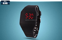 2014 Hotsale Red Light Multicolors wristband Hand Touch LED Watch