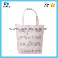 Plain fashion colorful promotional white coated cotton tote shopping bag