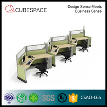 Office Workstation for 6 Person, Standard Office Furniture Dimensions