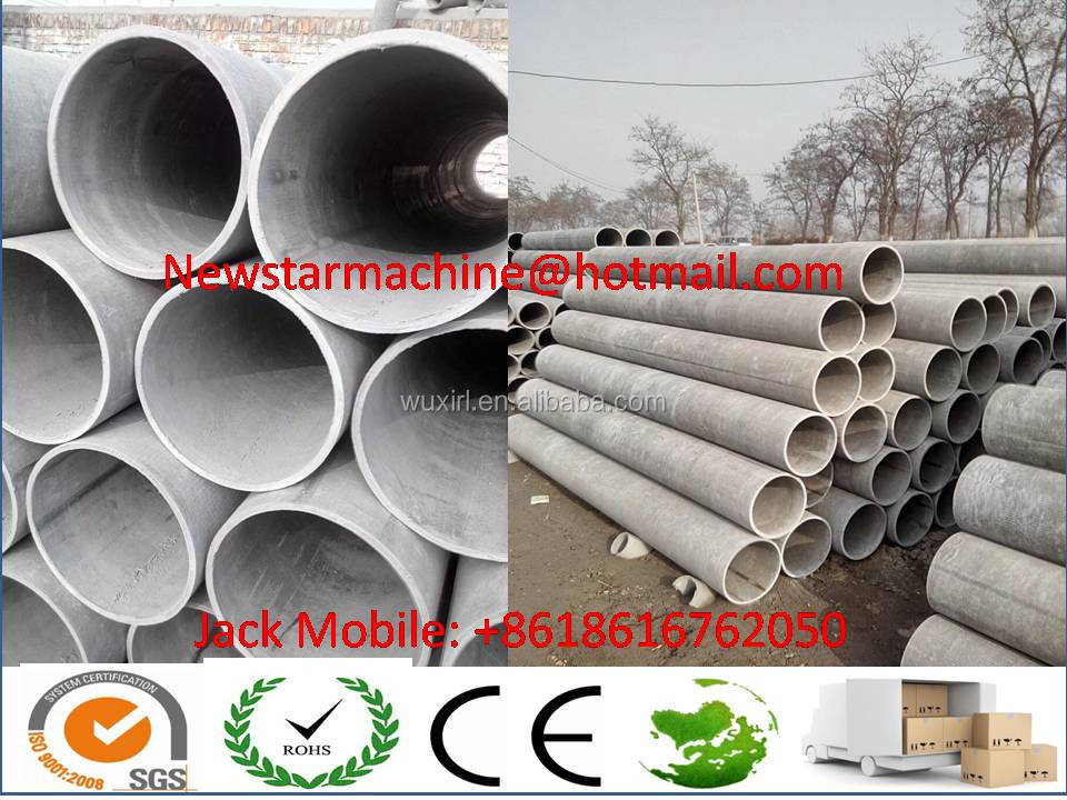 Fibre reinforced concrete pipe without asbestos