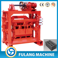 QTF40-2 New technology fly ash brick manufacturing process, industry machine