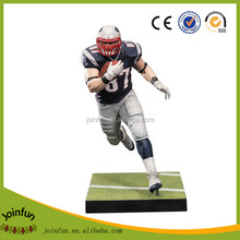 Custom 3D American football action figure,OEM plastic football player action figures, Custom articulated plastic action figure