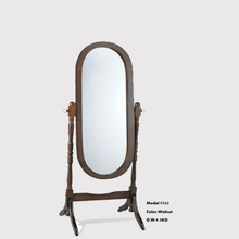 126cm height China factory antique wood oval cheval mirror