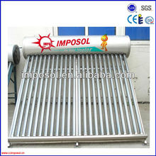 MADE IN CHINA Low pressurized vacuum integrated solar water heater 200L