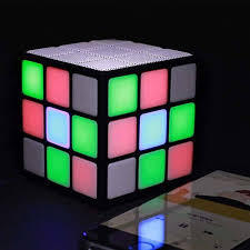 cube led light bluetooth speaker portable wireless car subwoofer