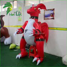 Hot Sale Inflatable Standing Red Dragon Costumes / PVC Inflatable Suit Animal Toys For Sale