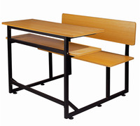 Metal steel frame student desk and chair wooden school desk and chair popular type school furniture