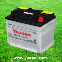 12V55AH Automotive Accumulator Dry Charged DIN 55 Car Battery -55559