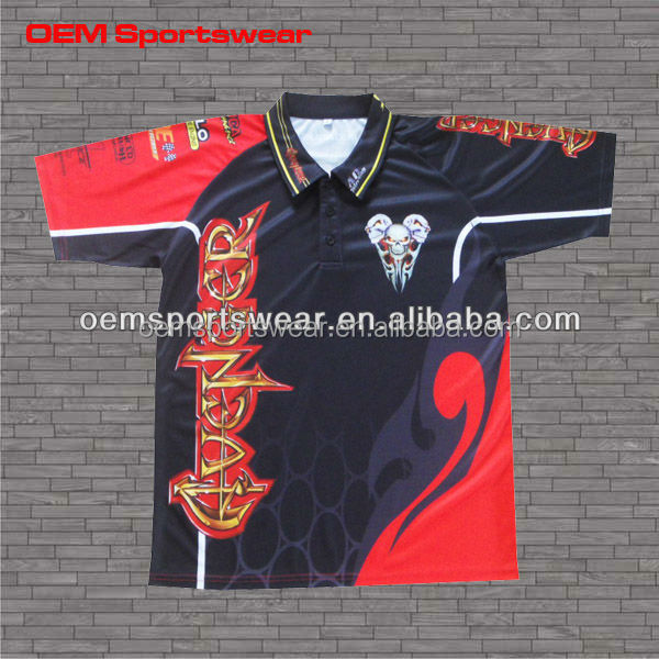 Plain sports jersey sublimation racing pit crew shirts