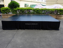 used portable outdoor concert stage design for band