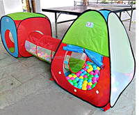 3-piece Kids Pop Up Children Play Tent Set Of Cube Square Cubby,Includes Teepee Play Tent With Tunnel And Wigwam