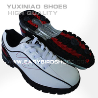 new model style fashion split leather golf shoes sneakers for male, mens colorful golf shoes sport brand from china factory