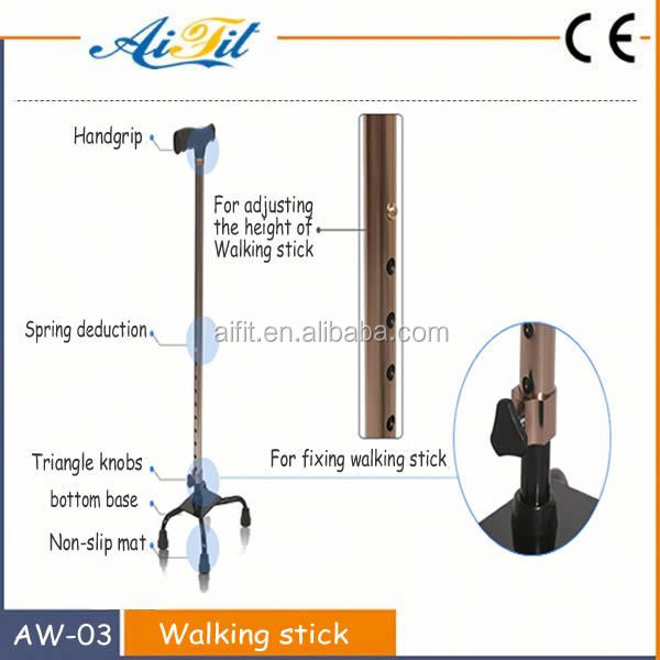 Folding Seat Cane / walking stick with 4 legs / Aluminum Walking Cane Walking Stick Cane
