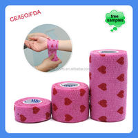 Colorful Cohesive Bandage Wrap For Wrist