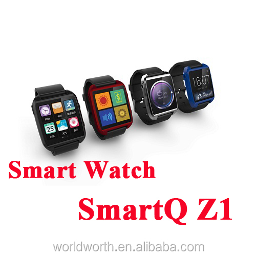 tw810 watch phone 100% Original SmartQ Z1 Smart Watch For Iphone / Samsung Galaxy Note3 WIFI Bluetooth Android 4.3