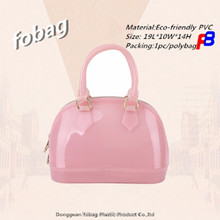 2018 hot sell fobag Manufacturer Cheap Transparent PVC Jelly Bag Glitter Shoulder bag for Girls