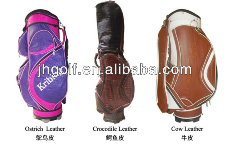 Genuine leather golf bags