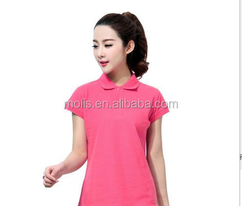 high quality ladies lapel polo design your own T shirt