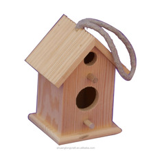 Small Wooden Cage Cedar Bird House