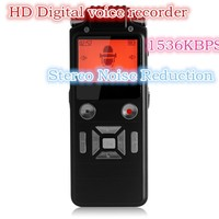 HD personal digital voice recorder, 50 meters audio pick up,Build in 8GB,Dual micphone,dual core stereo noise reduction