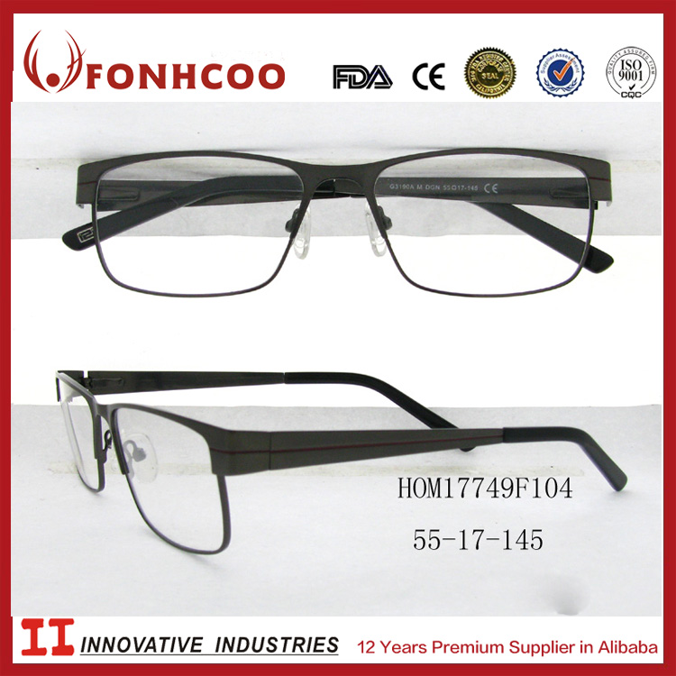 FONHCOO Hot Sell Newest Fashion Cross Shaped Temple Eyeglasses Optical Frames For Men