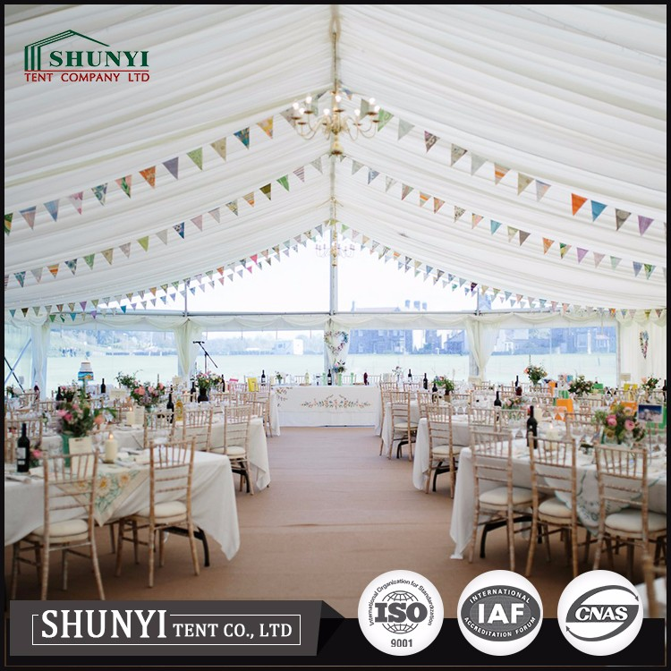 Hot Selling Sun Canopy PVC Fabric Roof Cover Outdoor White square big party tent