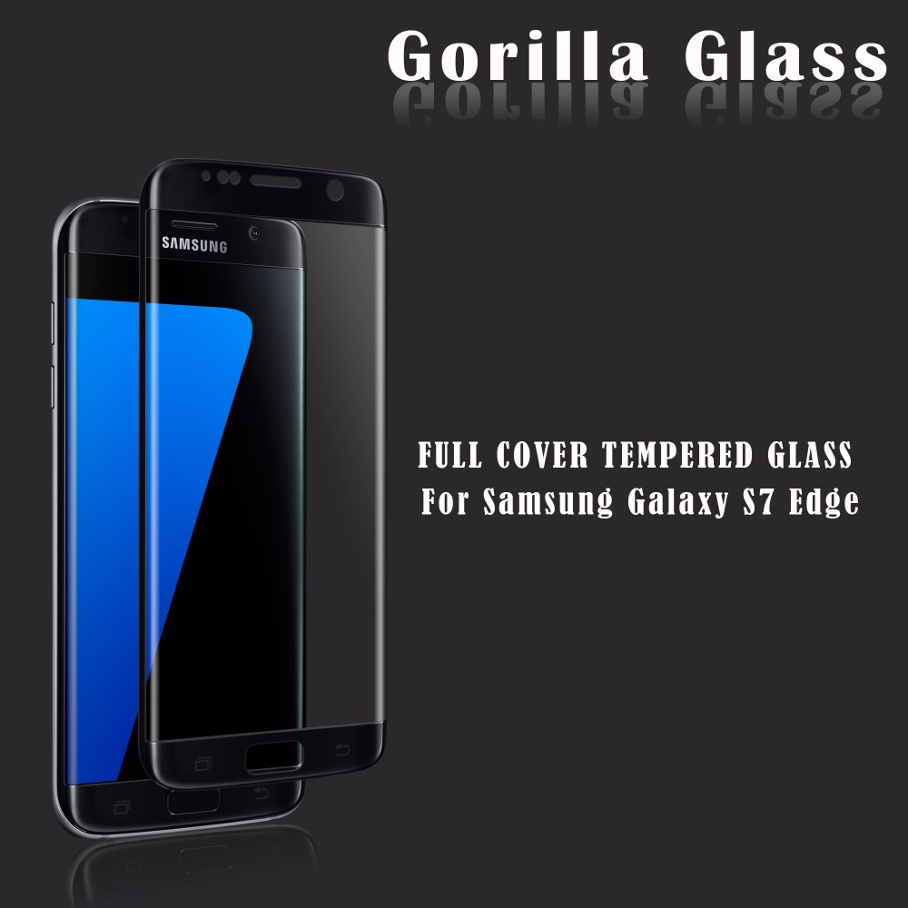 2016 New Arrival For Samsung Galaxy s7 edge tempered glass screen protector / Full Cover 3D curved s7 edge tempered glass