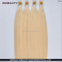 2016 Double Drawn Remy pre bonded hair extensions remy cachet