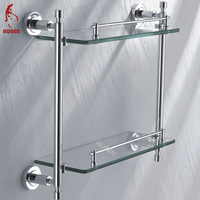Bathroom high quality stainless bath glass rack