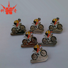 OEM Metal Badge Factory Supply Sports Badge with bike match