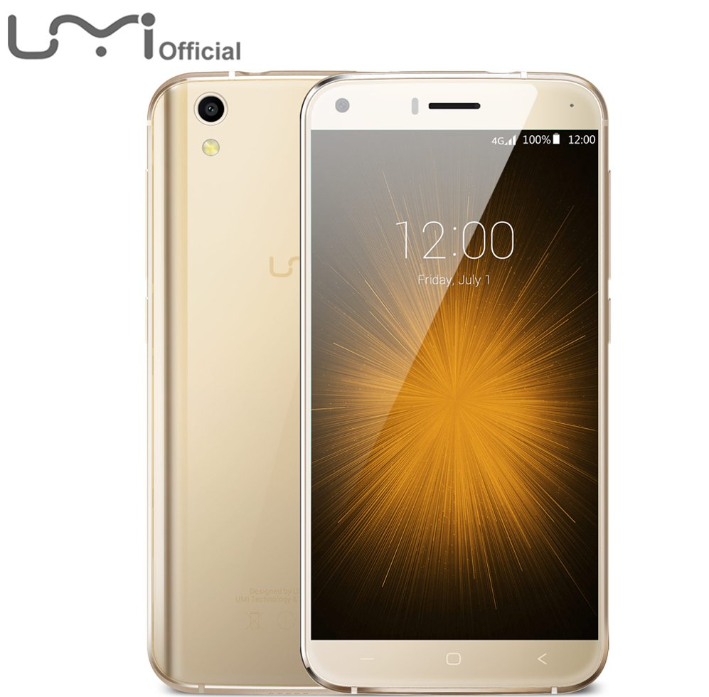 2016 NEW Original UMI London Mobile Phone 5 inch 2.5D Screen Quad Core 1GB RAM 8GB ROM 8.0M Camera Android 6.0 Cell Phone
